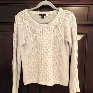 H&M grey cable knit sweater, size small